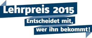 Online-Formular zum Lehrpreis 2015