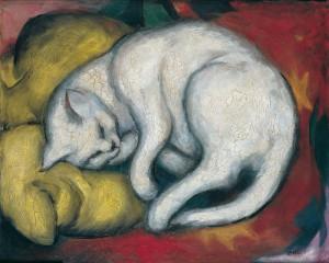 Franz Marcs Weiße Katze lädt ein zum Rundgang für Kinder
