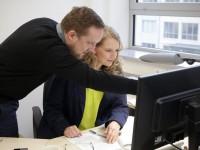 Verstärkung für das Rektorat: Dr. Peter Richter und Luise Störmer   Foto: zobo – design & photoart