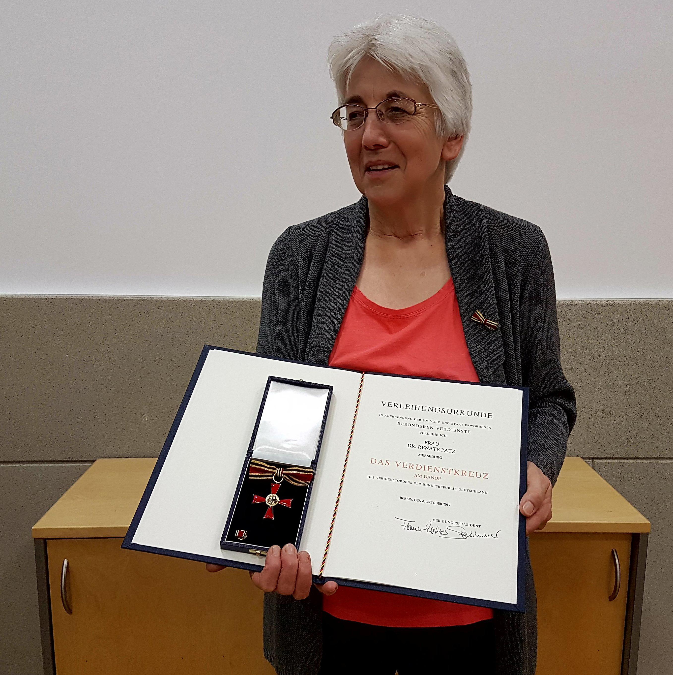 Verdienstorden für Dr. Renate Patz